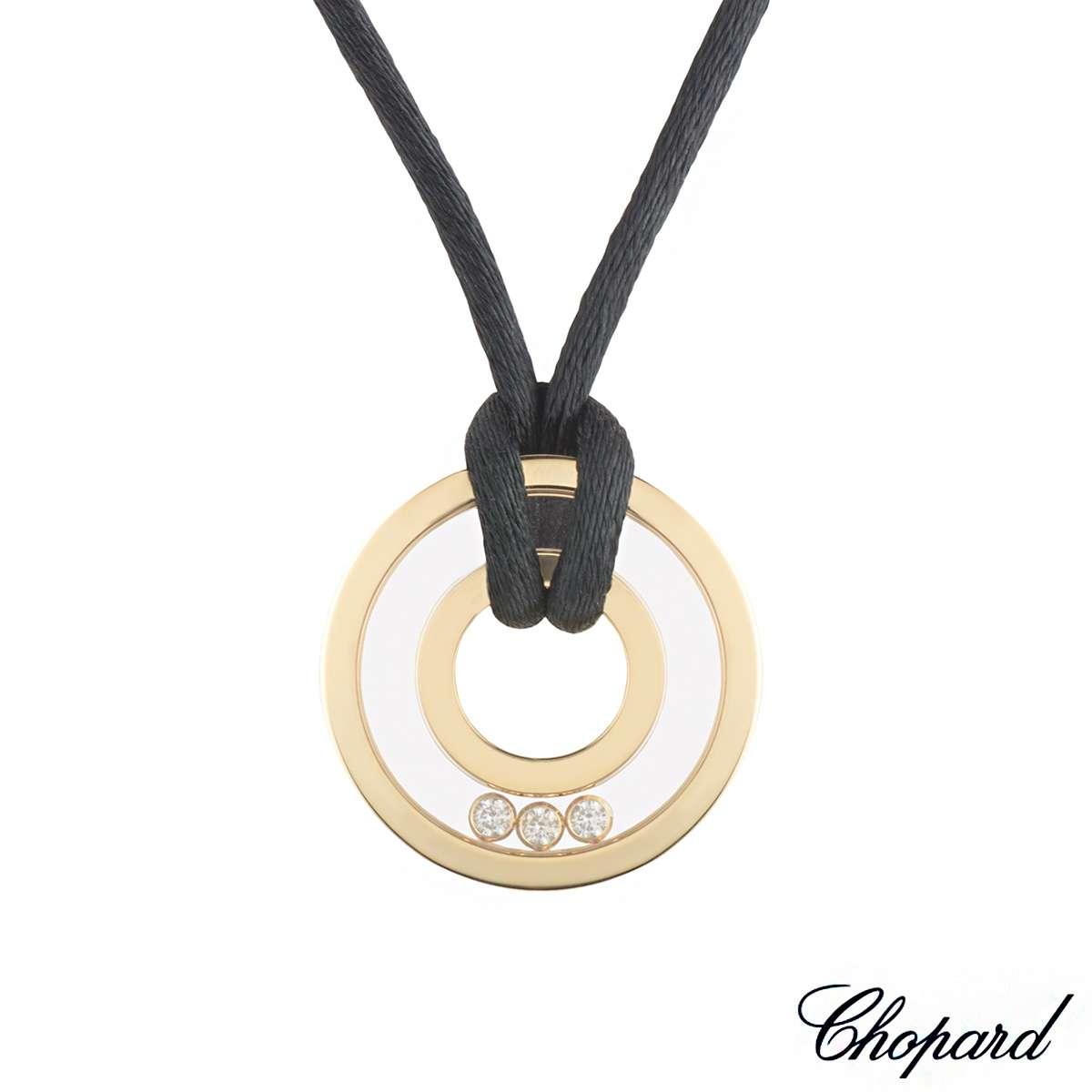 Chopard Yellow Gold Happy Diamonds Pendant